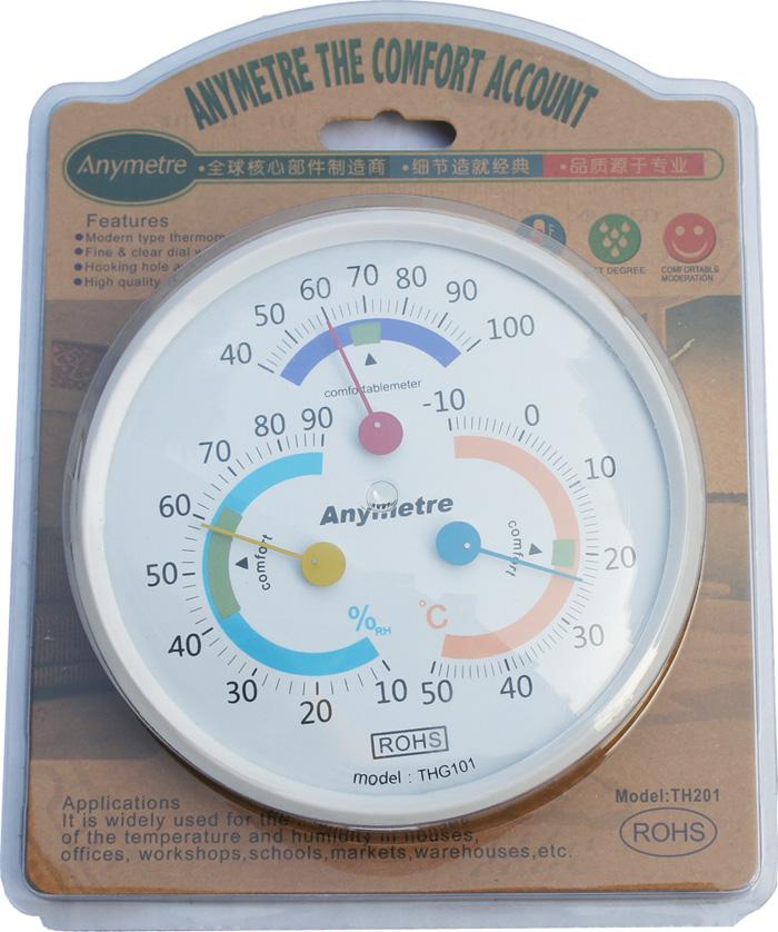 时钟温湿度计